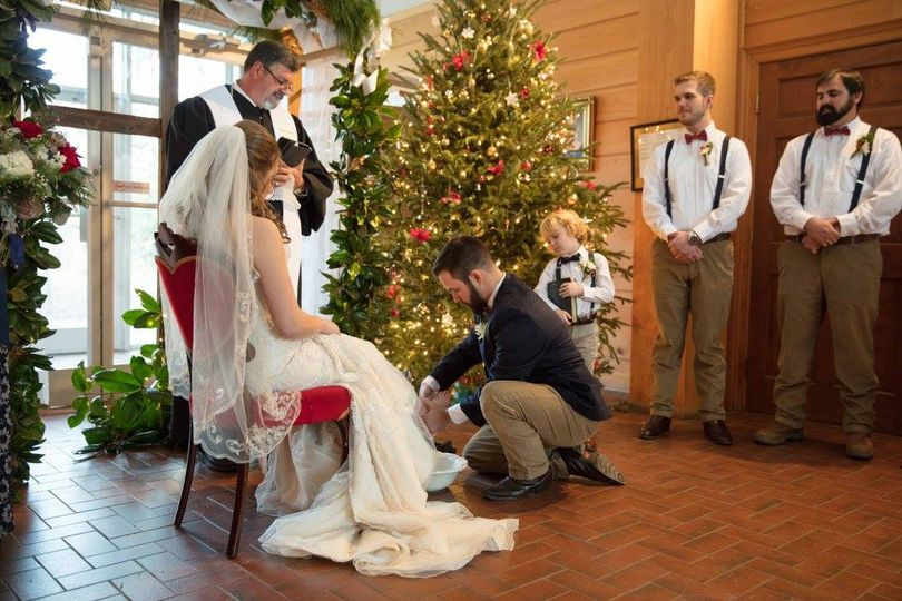 Christmas time wedding