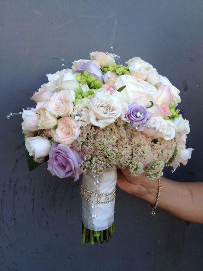 Pastel colored flower bouquet