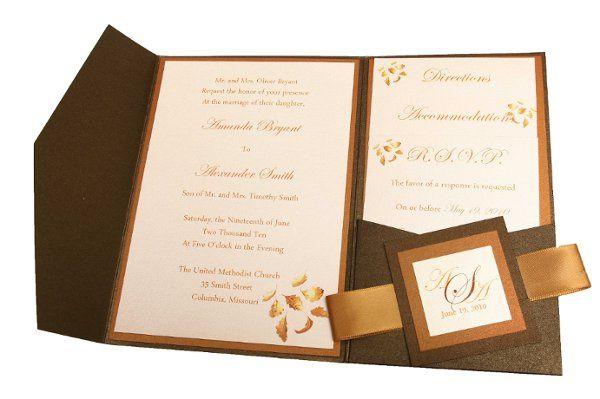 Tmx 1228846084772 5x7AzaleaOpenRibbon Bronze Freeport wedding invitation