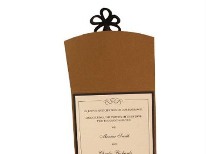 Tmx 1228846098522 5x7Rosewithfrogclosureopen AntiqueGold Freeport wedding invitation