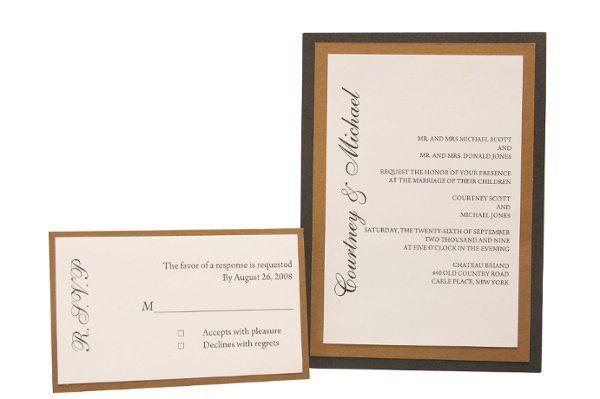 Tmx 1228846107787 5x7DoubleLayeredMetallicMat%26CardStockInvite Freeport wedding invitation