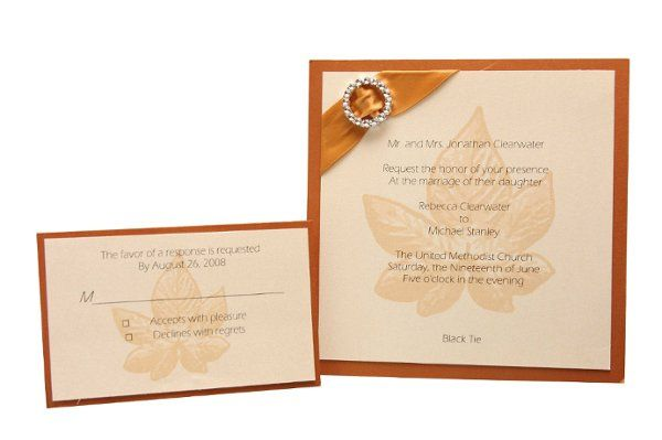 Tmx 1228846118116 6x6SingleLayeredMetallicMat%26InviteandStonelessEmbellishment Freeport wedding invitation