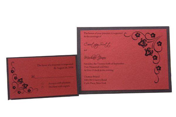 Tmx 1228846124662 7x5SingleLayeredMetallicMat%26Invite Freeport wedding invitation