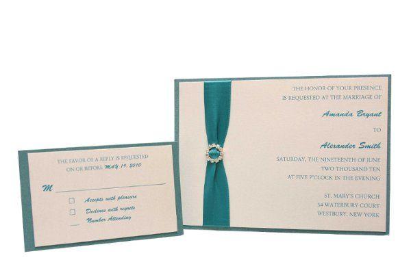 Tmx 1228846128272 7x5SingleLayeredMetallicMat%26InvitewithRibbonRhinestoneEmbellishment Freeport wedding invitation