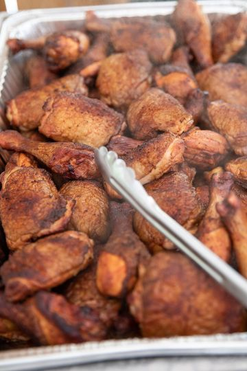 Smoked chicken pieces