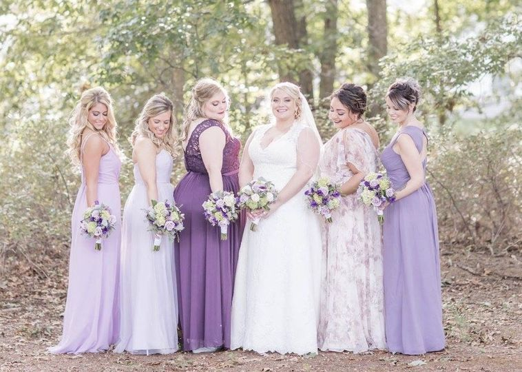 Bride with thr bridesmaids