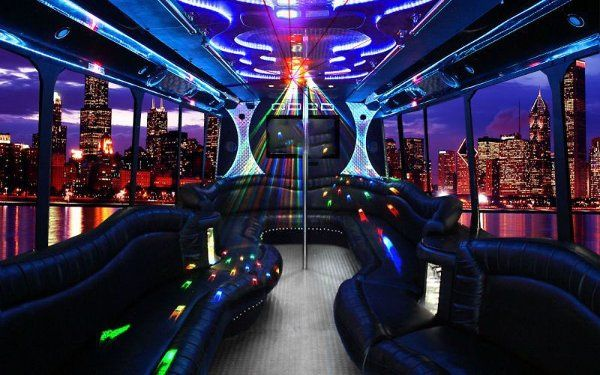 Inside of our amazing party bus