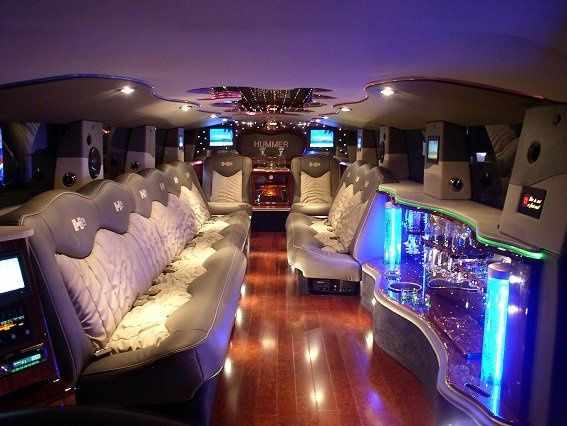 Luxurious interior of our hummer limousine