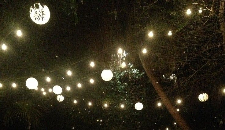 Dance under the stars...and garden lights