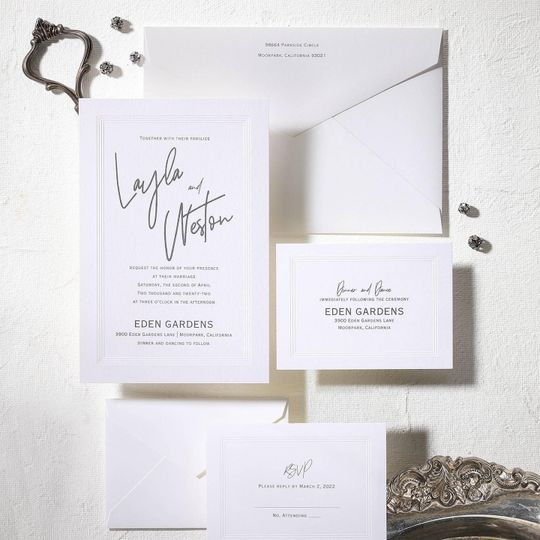 Sophisticated monochrome invitation