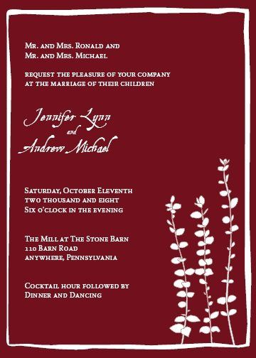 Tmx 1223493469500 Final J A Media wedding invitation