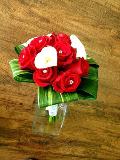 rose and calla lily
