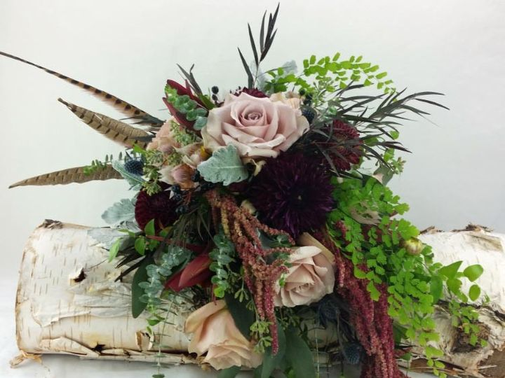 Tmx 1459574067377 Bb1167 Bohemian Style Brides Bouquet Oregon City, OR wedding florist