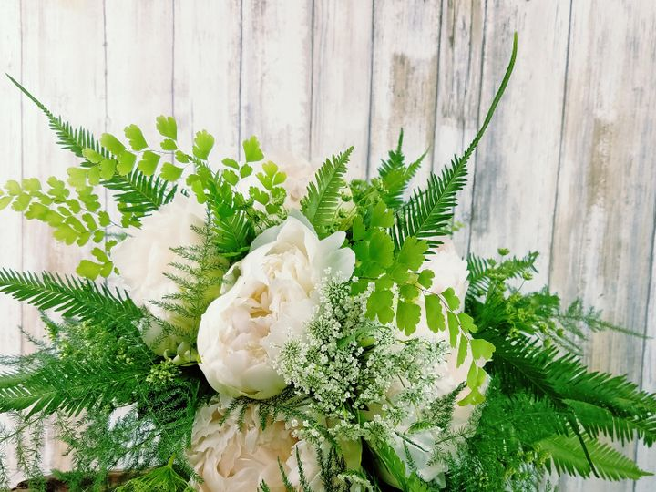 Tmx Bb1419 Spring Natural White Peony And Greenery Brides Bouquet 51 42687 Oregon City, OR wedding florist