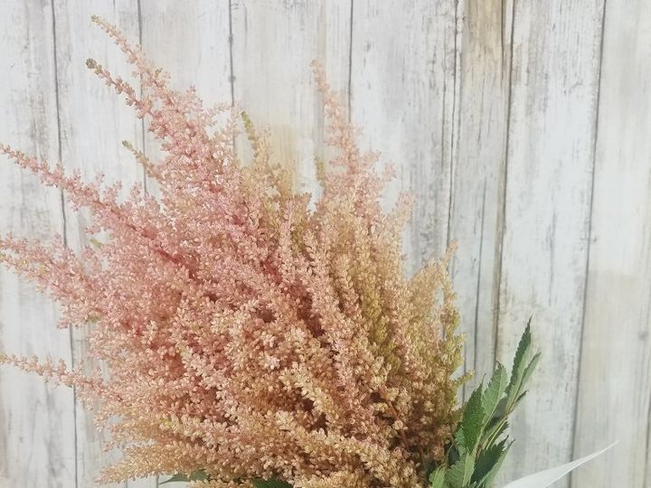 Tmx Bb1442 Simple Pink Astilbie Bridesmaids Bouquet 51 42687 Oregon City, OR wedding florist