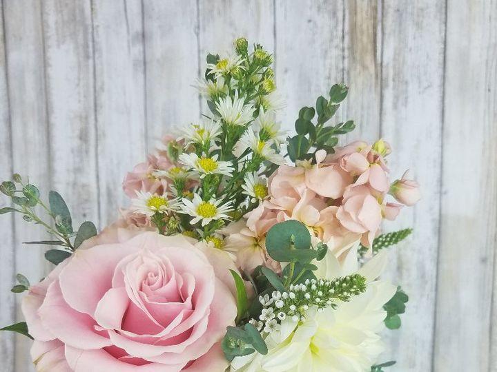 Tmx Bb1448 Simple Light Pink Bridesmaids Bouquet 51 42687 Oregon City, OR wedding florist