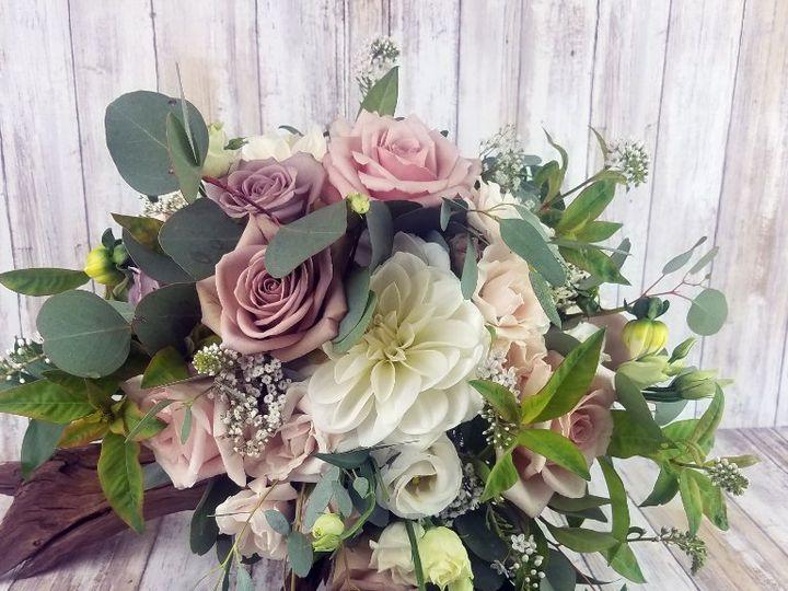 Tmx Bb1454 Vintage Wisteria And Petal Pink Brides Bouquet Copy 51 42687 Oregon City, OR wedding florist