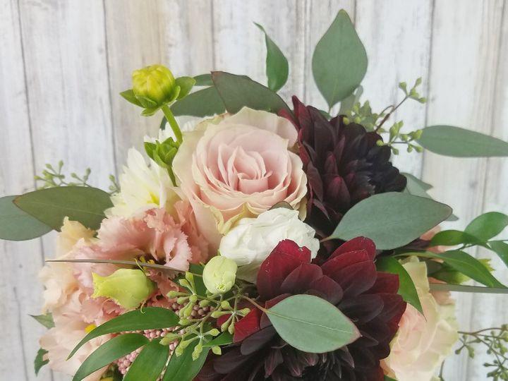 Tmx Bb1457 Blush And Burgundy Natural Bridesmaids Bouquet Copy 51 42687 Oregon City, OR wedding florist