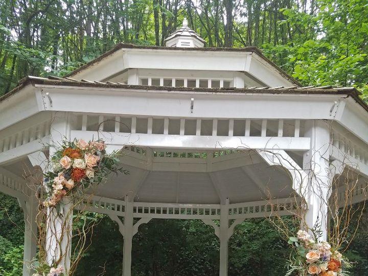 Tmx Cf09243 Rustic Peach And Blue Gazebo Decor 51 42687 Oregon City, OR wedding florist