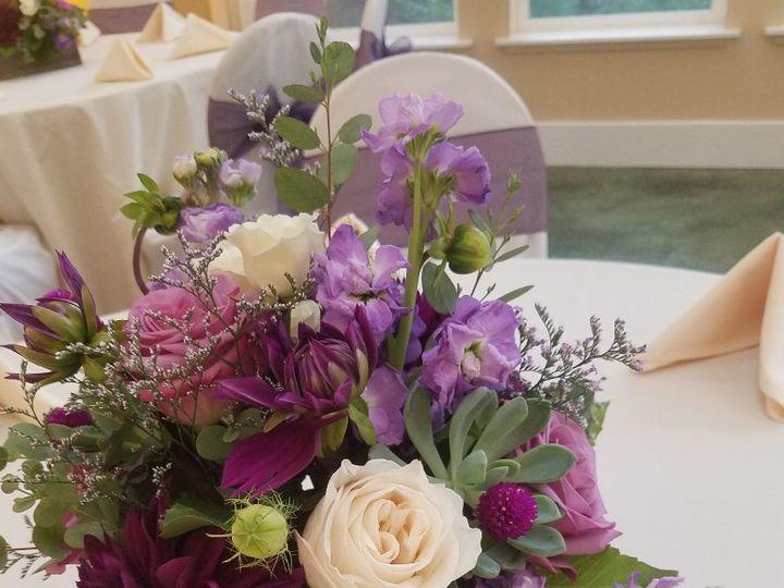 Tmx Rf1440 Rustic Lavender And Purple Centerpiece 51 42687 Oregon City, OR wedding florist