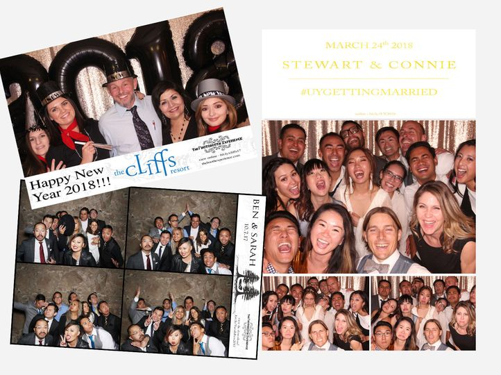 Sample options for Photo Booth printouts