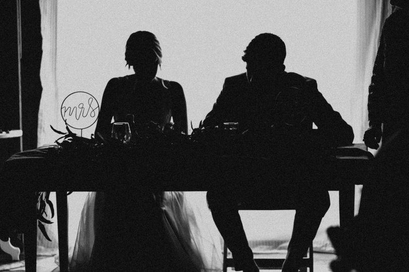 In silhouette