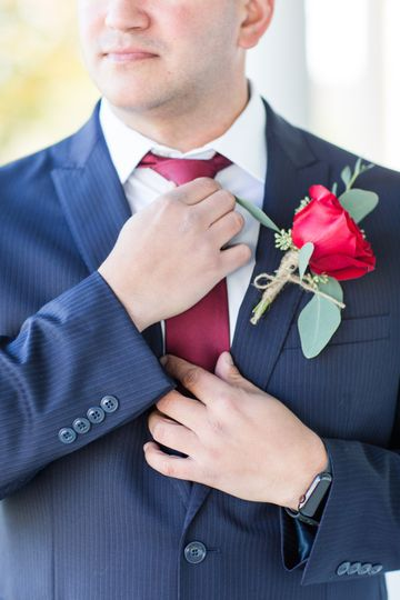 Close up of the Boutonniere