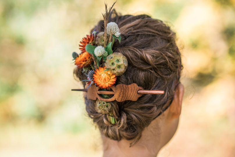 Flower hairpieces, wearables