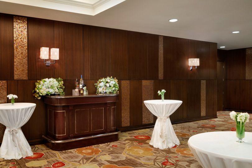 Foyer space in dark wood