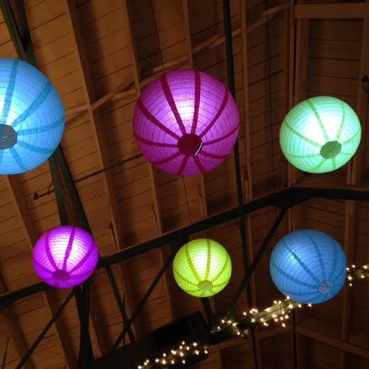 Tmx 1431390213799 Coloredlanternsfromfloor Lenexa wedding eventproduction