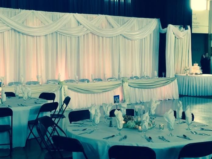 Tmx 1431390676059 Kw Backdrop Cake Table Guest Tables Lenexa wedding eventproduction