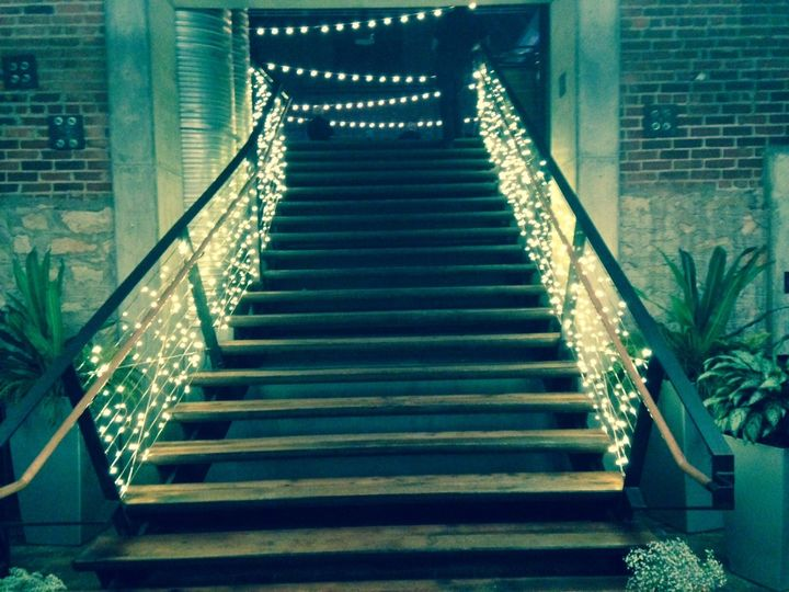 Tmx 1444616339619 Stair Lights Thompson Barn Lenexa wedding eventproduction