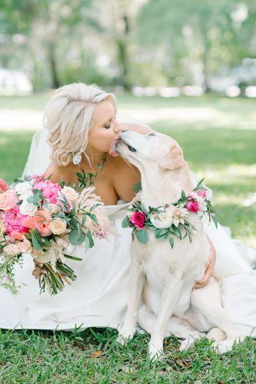Fur baby bridesmaid