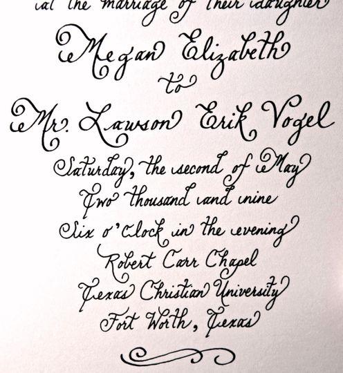Calligraphy By Emily Invitations Dallas Tx Weddingwire