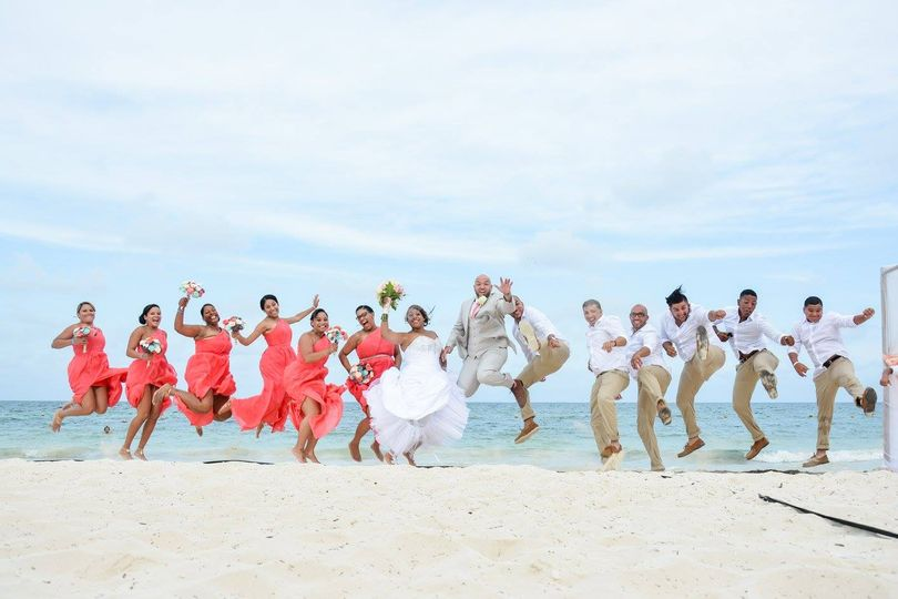 Fun destination wedding