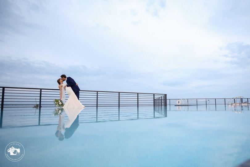 Poolside Couple