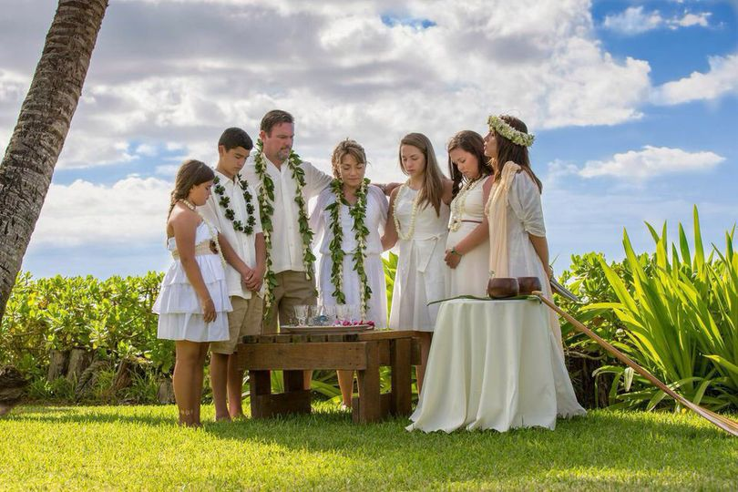 Kahu Pomaika`i conducts blended family ceremonies often.