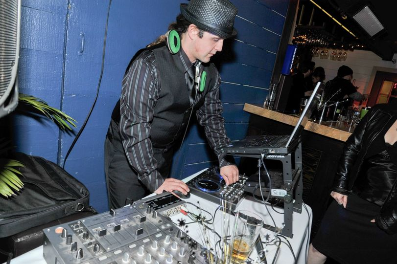 DJing a New Year in Carmel.