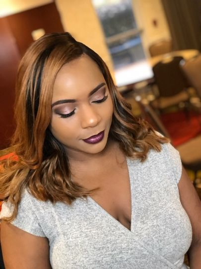 Glam bridesmaid makeover