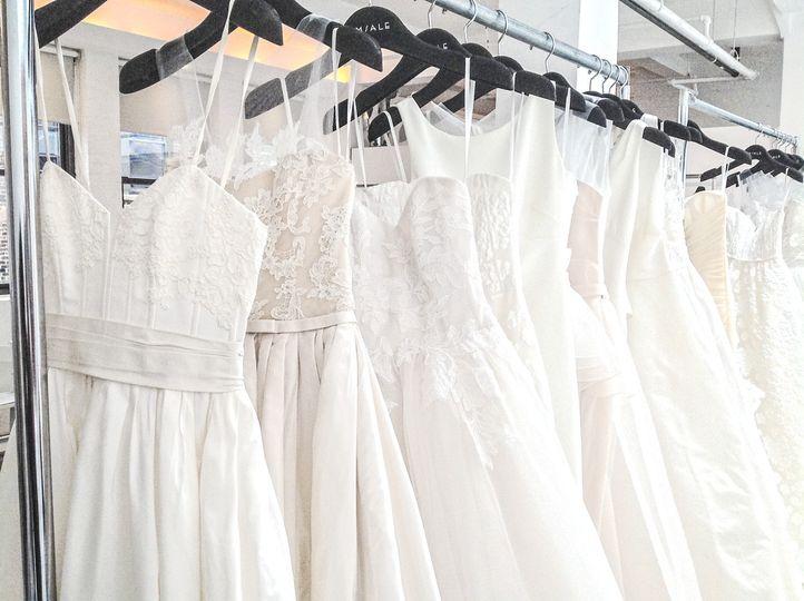 White dress selection