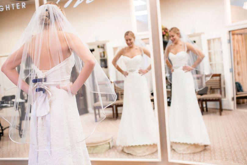 Fitting the wedding dress