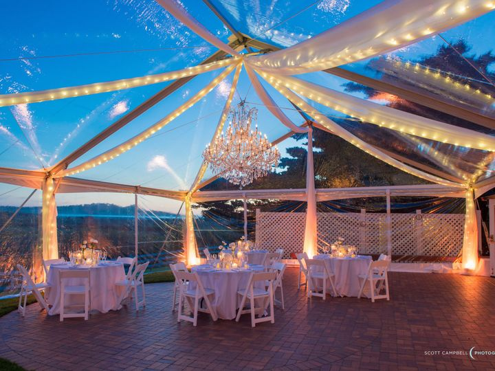 Tmx 1418329740063 Clear Jumbotrac With Draping Twinkle Lights Chande Monterey wedding rental