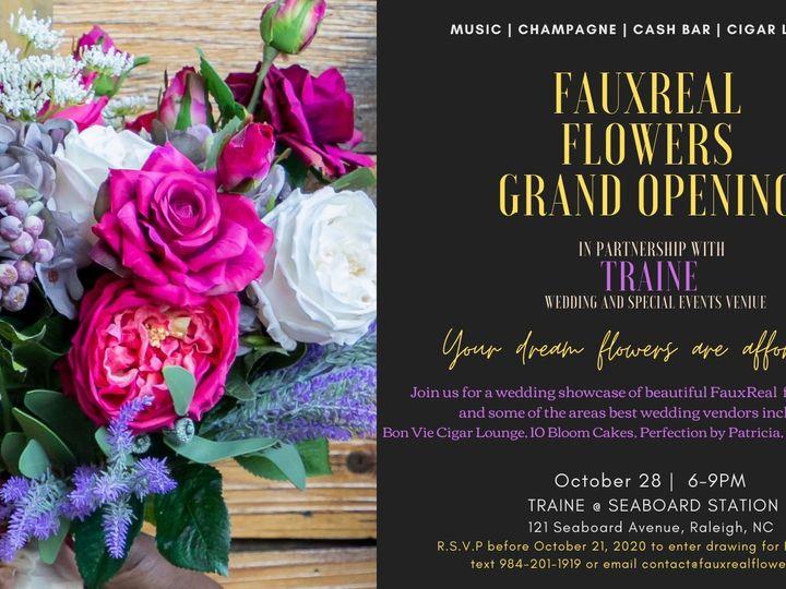 Tmx Grand Opening Invite 51 1972787 160261557276427 Raleigh, NC wedding florist