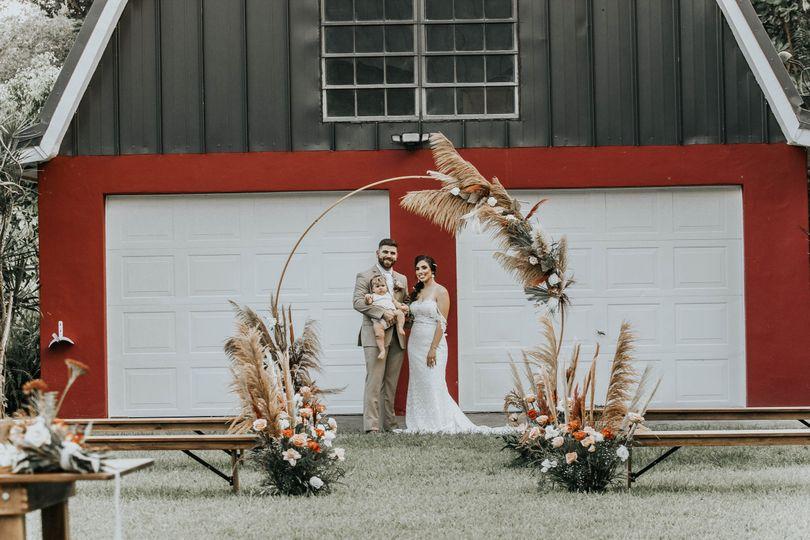 Red barn backdrop