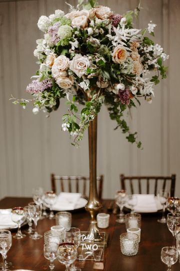 Tall centerpiece wedding
