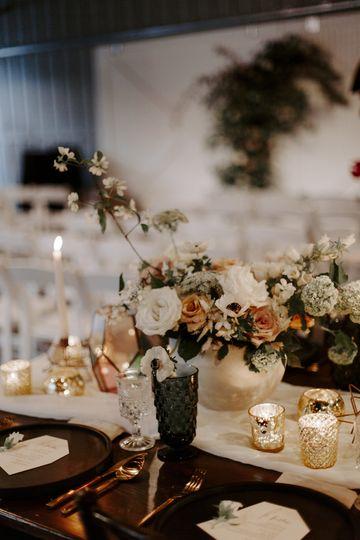 Low centerpiece wedding