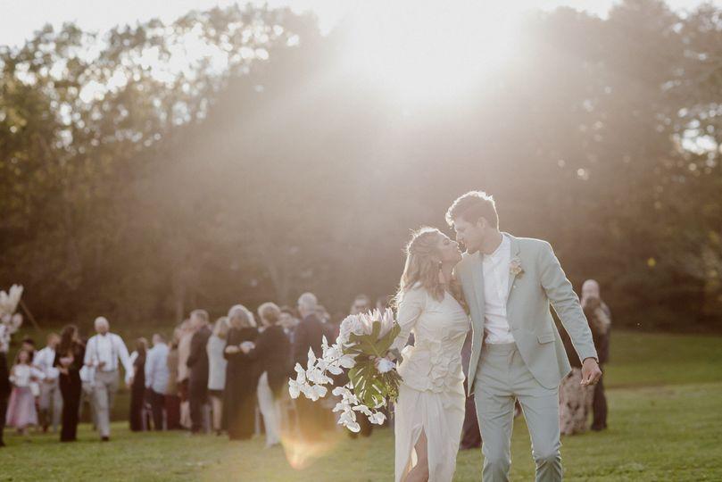 Modern wedding bouquet