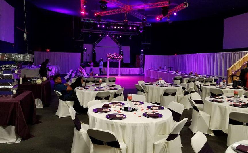 Purple uplighting