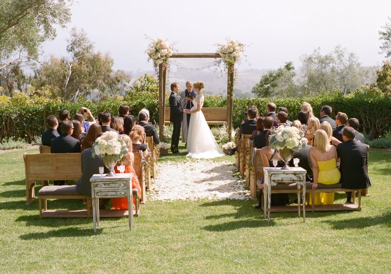 A small outdoor ceremony