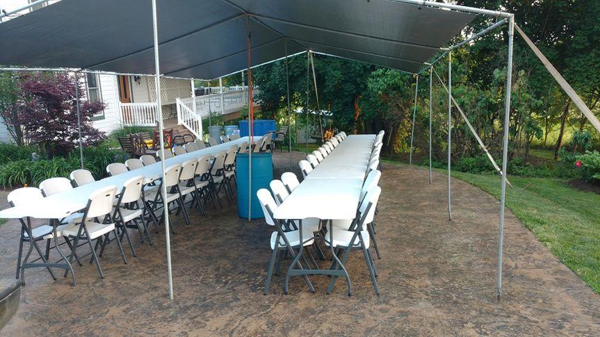 Set up for dinner